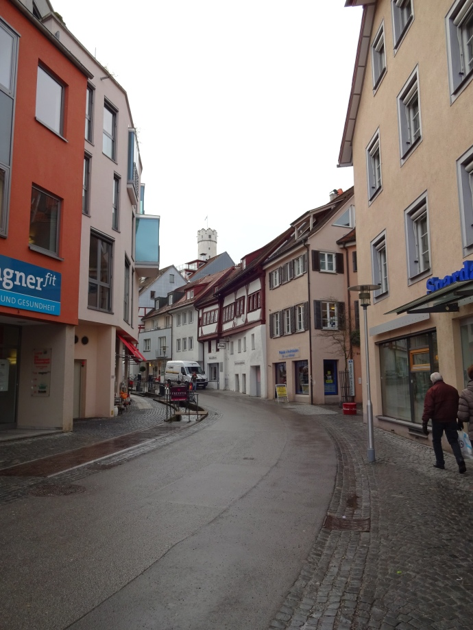 Street in Ravensberg yesterday morning.
