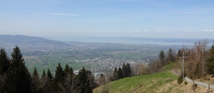 If you look closely you might be able to see where we are staying on the other side of Lake Constance!